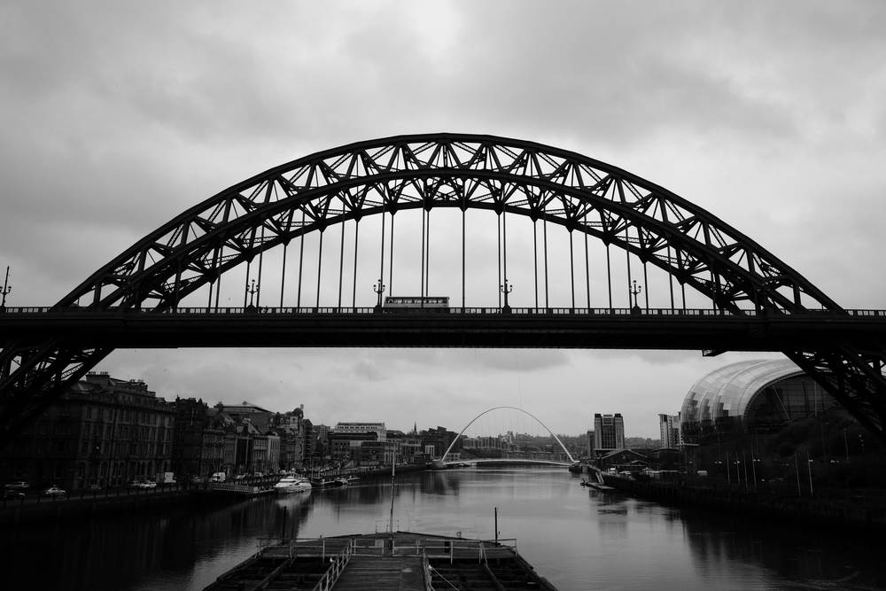 Newcastle Wedding Venue BALTIC seen beyond the iconic Tyne Bridge