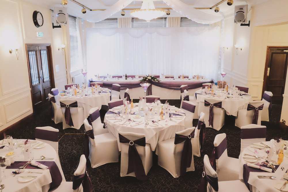 Newcastle Wedding Photographer // The Caledonian Hotel set up for Wedding Breakfast