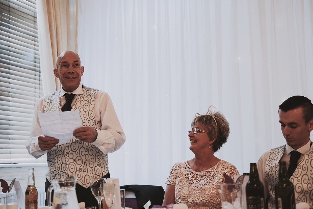 Newcastle Wedding Photographer // Father of the bride speech