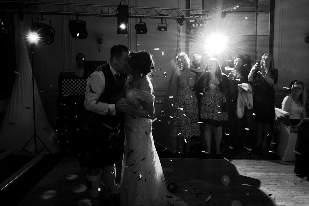 Newcastle Wedding Photographer // Bride and groom first dance