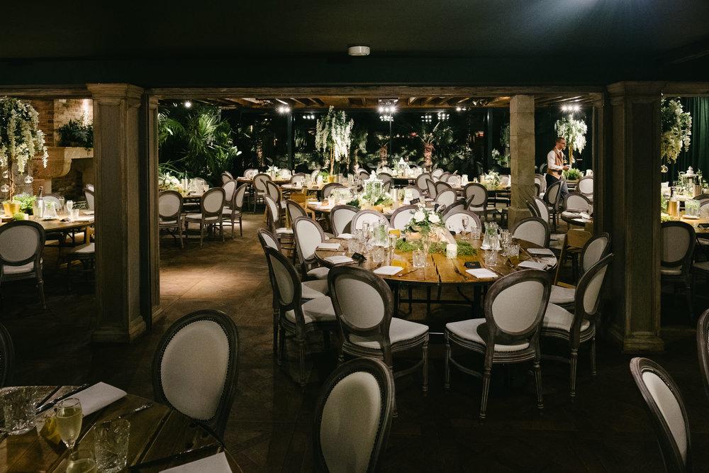 Wedding reception room at Le Petit Château