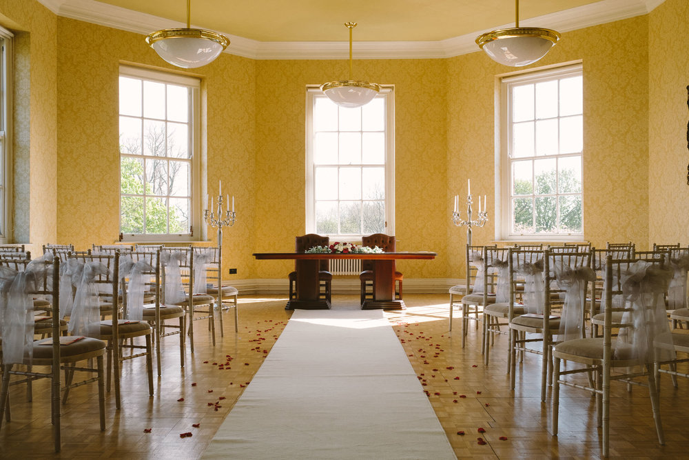 Wedding ceremony room at Wallsend Hall