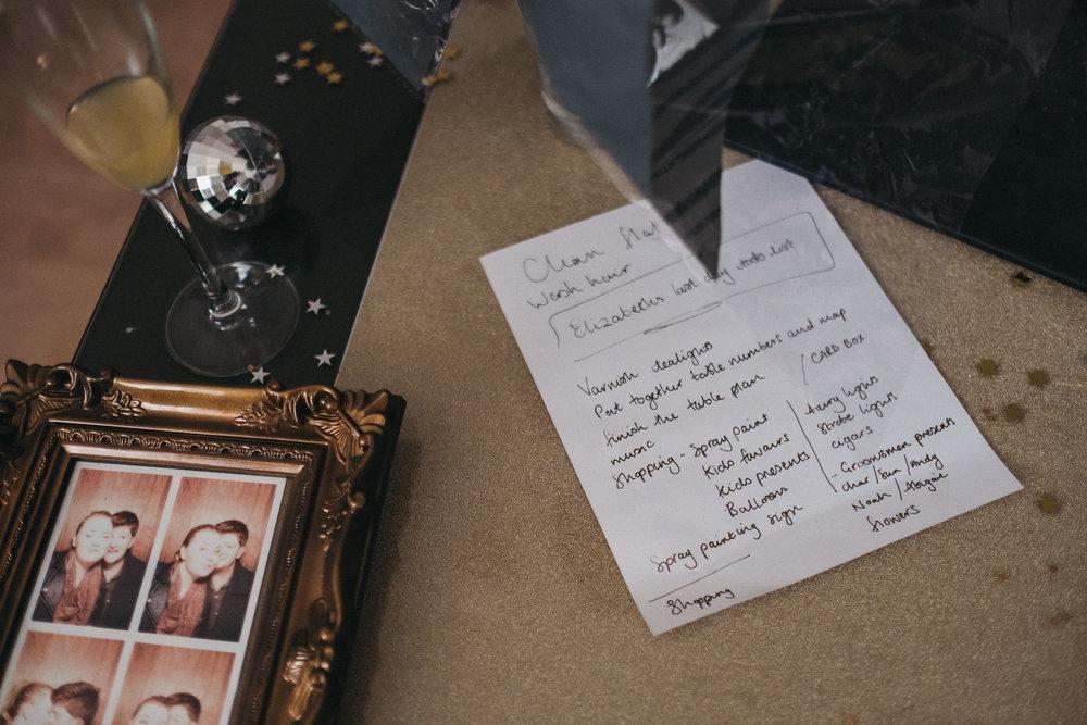 Bride's wedding to do list
