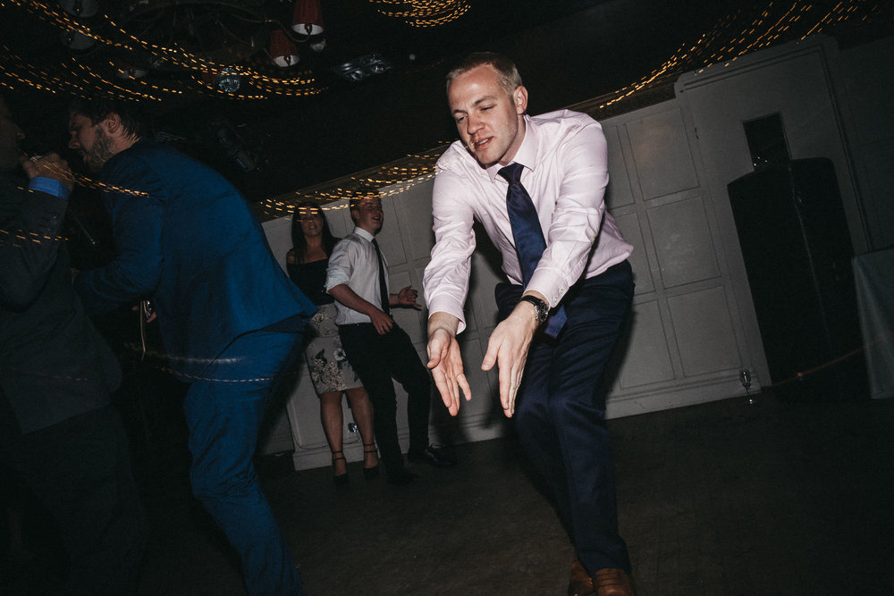 Wedding guest dancing in Newcastle upon Tyne