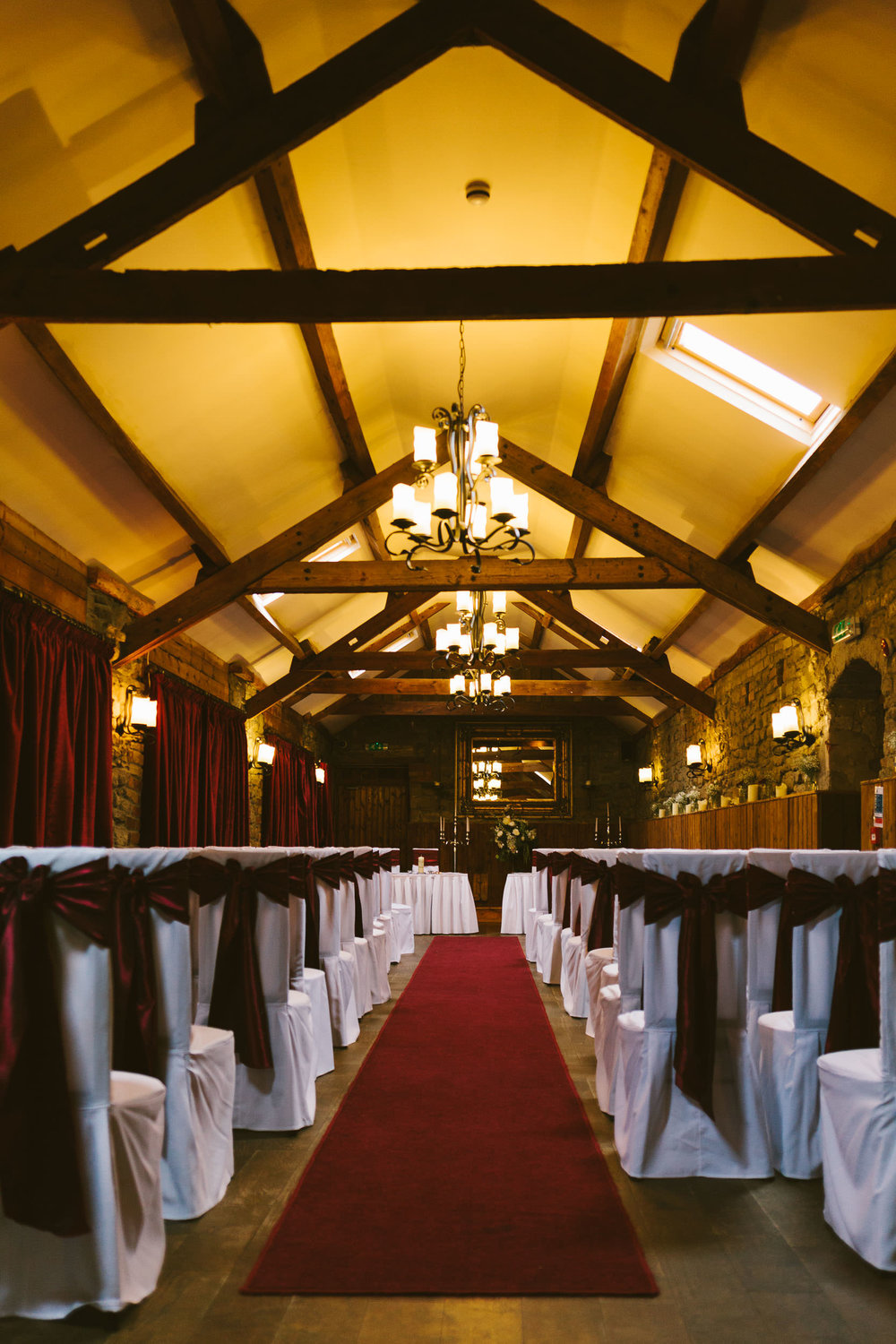 Durham suite at South Causey Inn set up for wedding