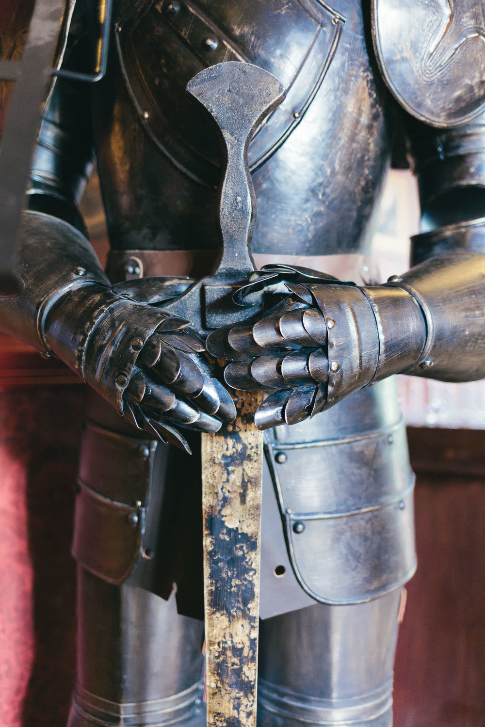 Close up of Knight's armour