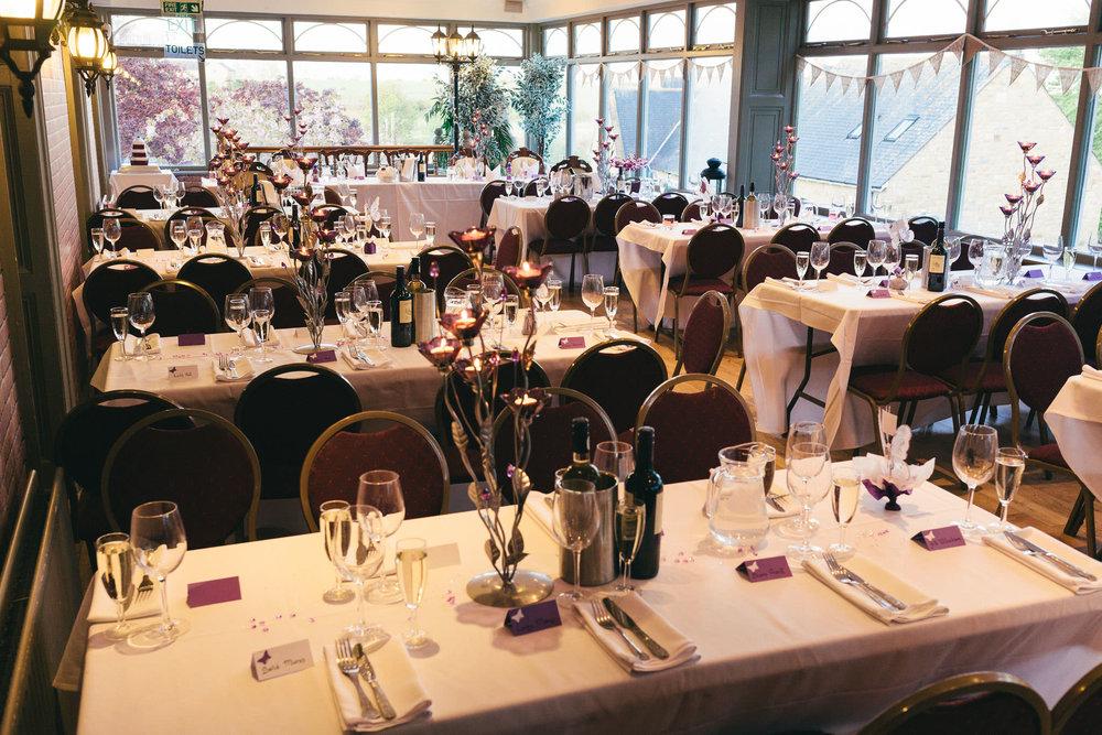 Sun Hotel set up for wedding breakfast