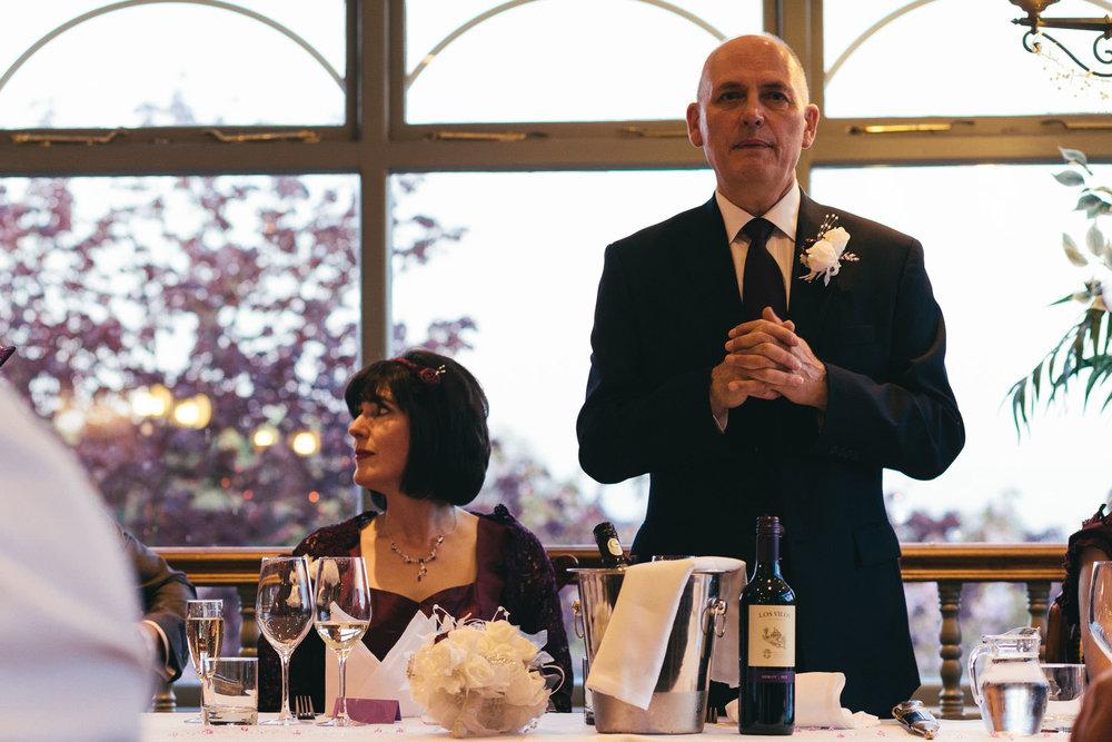 Groom gives wedding speech