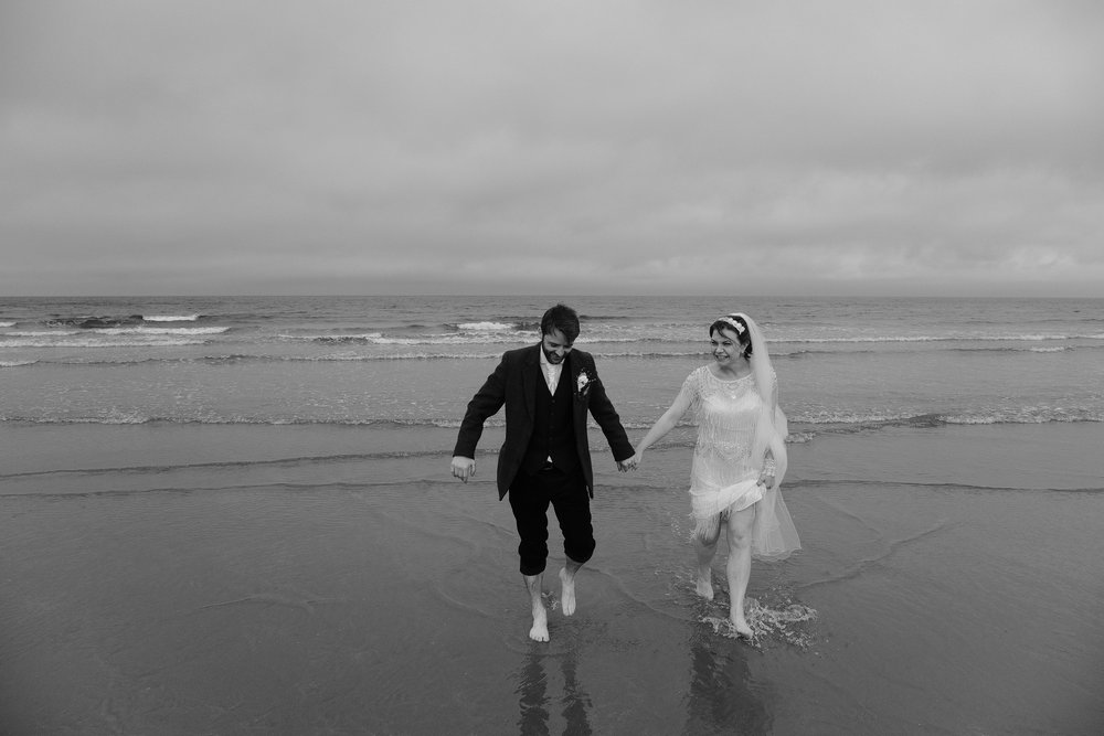 The wild Northumberland coast is a great, if a bit nippy, location for your alternative wedding in the North East.