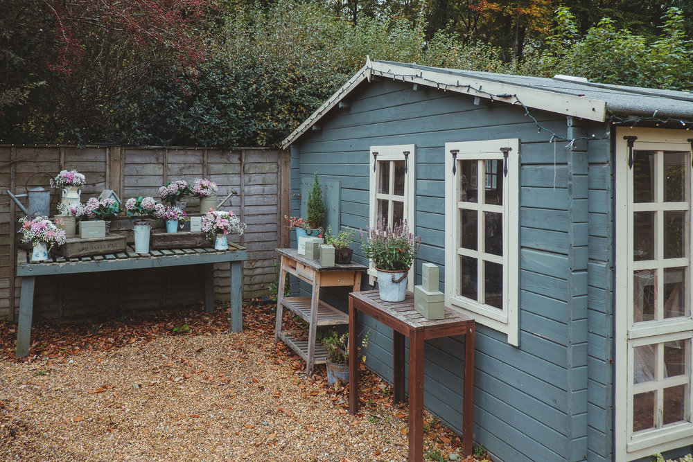 This is the little corner of the patio area just off the Garden Room