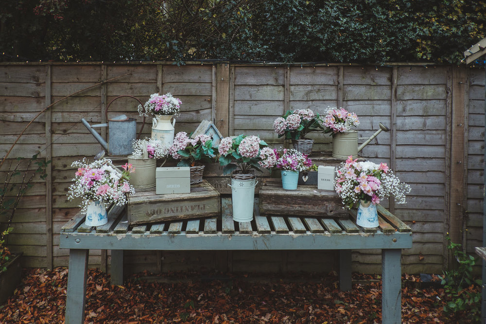 Shabby-chic and rustic touches on an autumn day in Northumberland at The Parlour