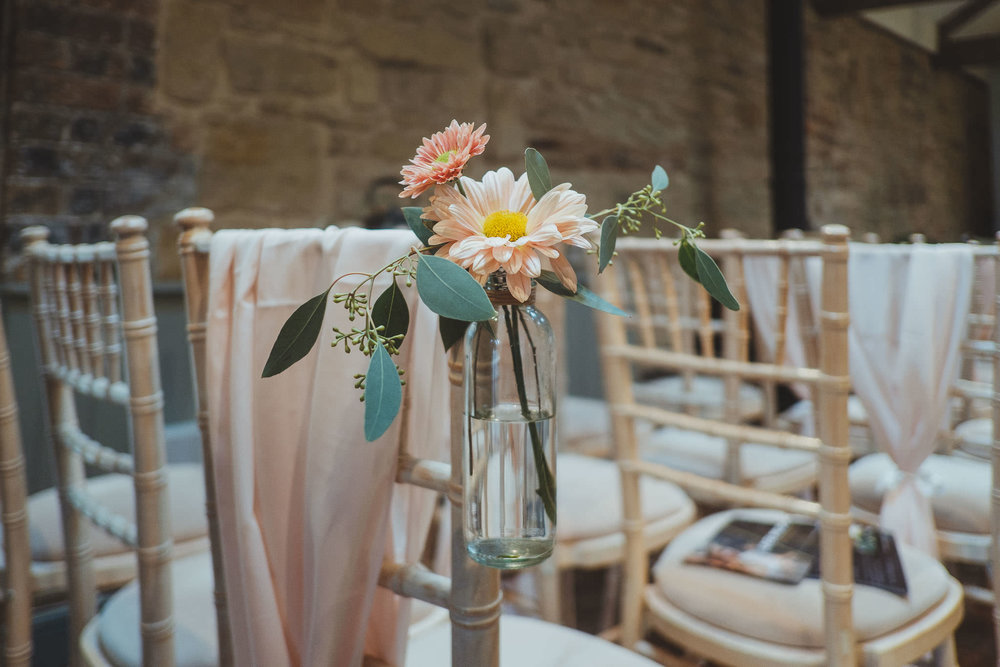 The Smithy set up for a wedding ceremony