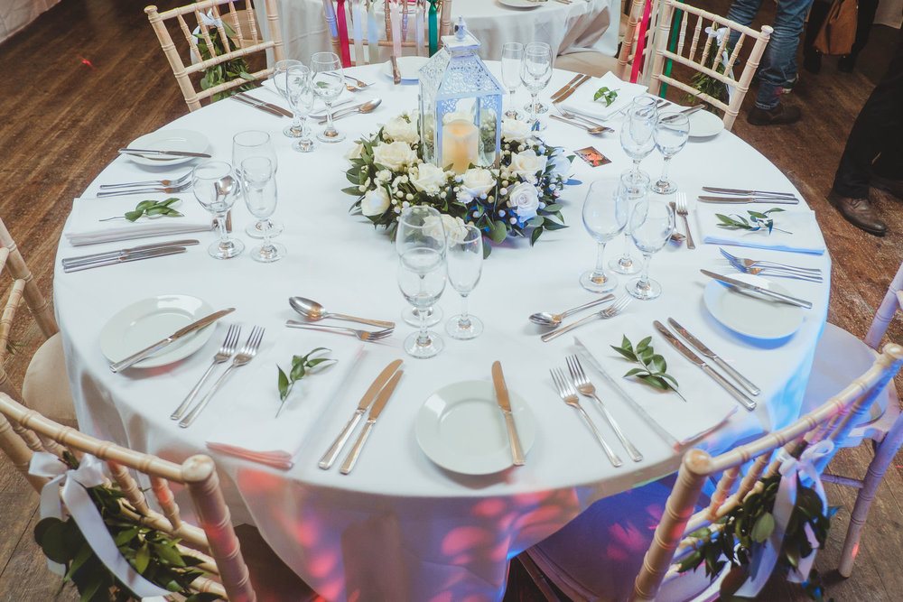 The Willow Room set up for the wedding breakfast