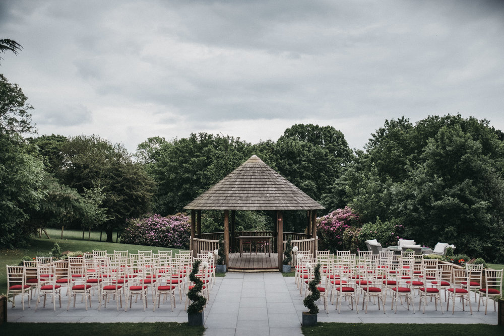 The Gazebo set up for an outdoor wedding