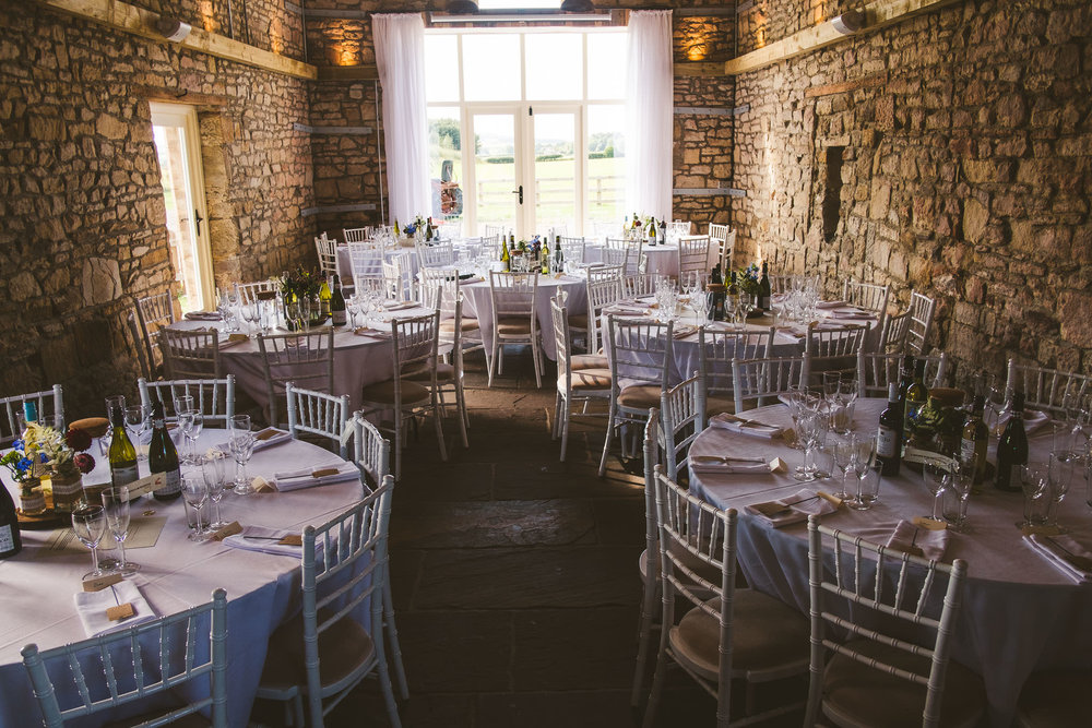 The barn is used for the wedding ceremony, wedding breakfast and evening shenanigans!