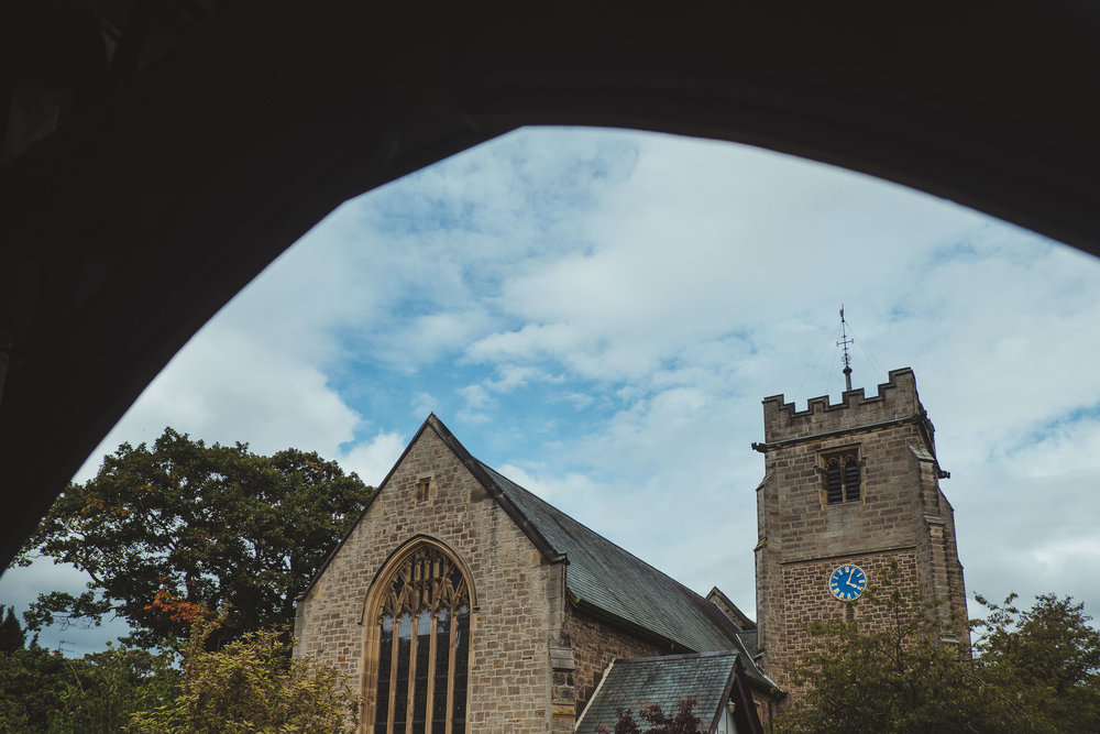 The church of St Oswin's in Wylam