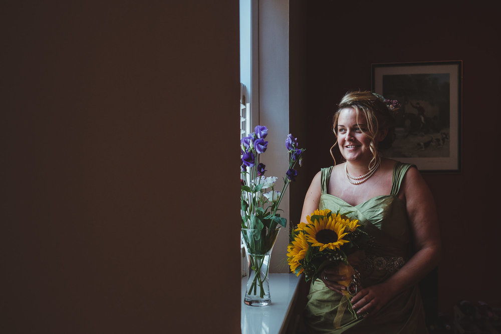 Sunflowers were a big theme of Emma and Paul's wedding day