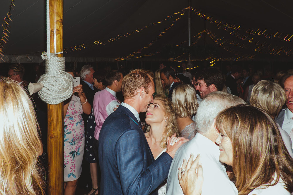 Zoë and Ed were joined on the dance floor by their friends and family following their first dance