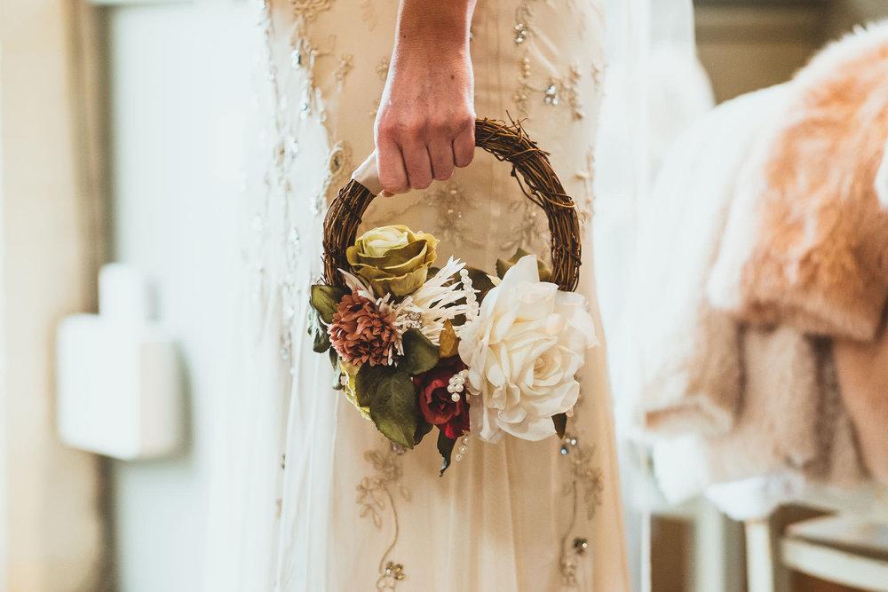 Angela's silk flower bouquet