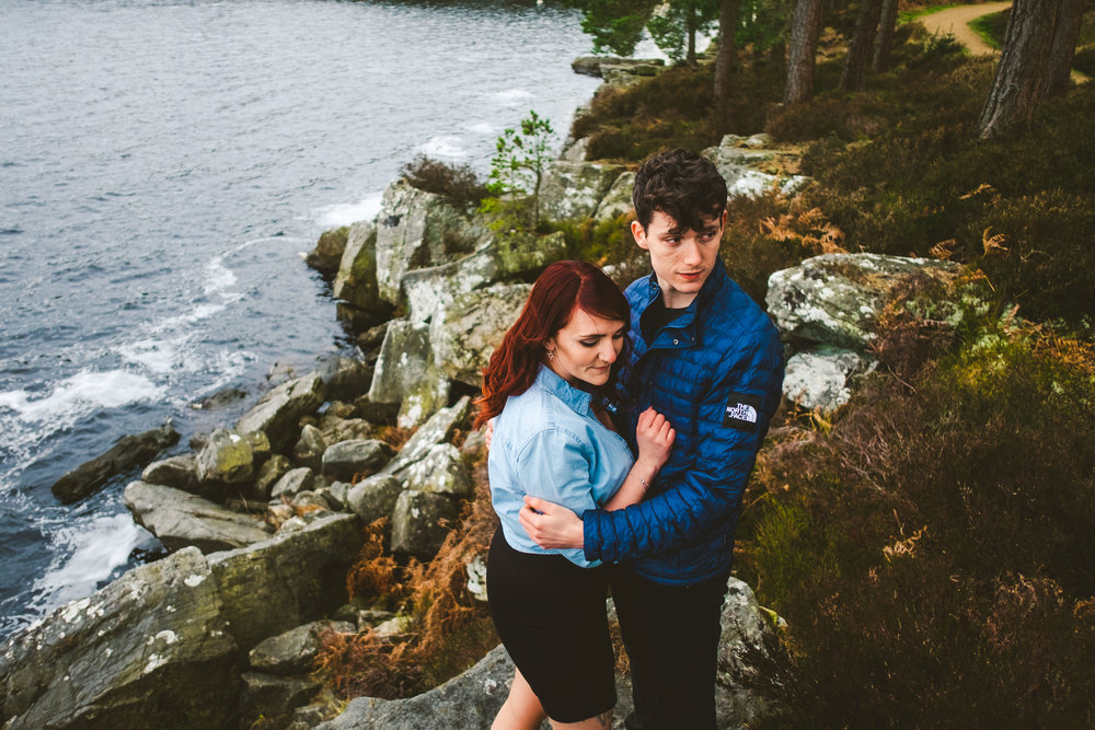 Sarah and Billy's couples session at Kielder Water