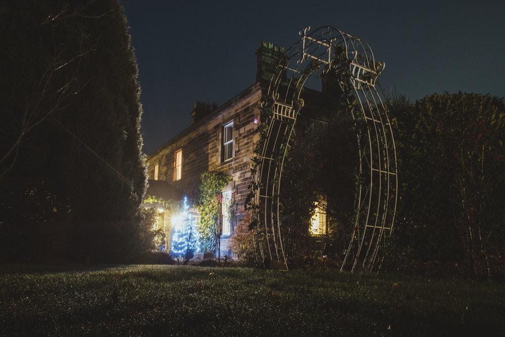 Horton Grange on a winter night