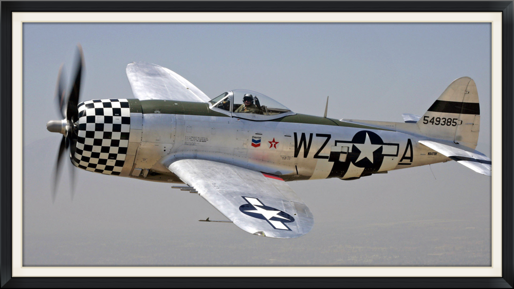 Republic P-47 Thunderbolt: World War II. The largest, heaviest, and most expensive fighter aircraft in history to be powered by a single piston engine. It was the subject of an episode of the World's Deadliest Aircraft series broadcast by the Military Channel.