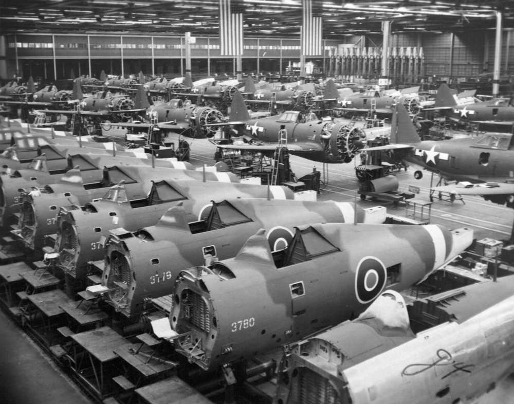 Vast P47 war bird production facilities during WWII......