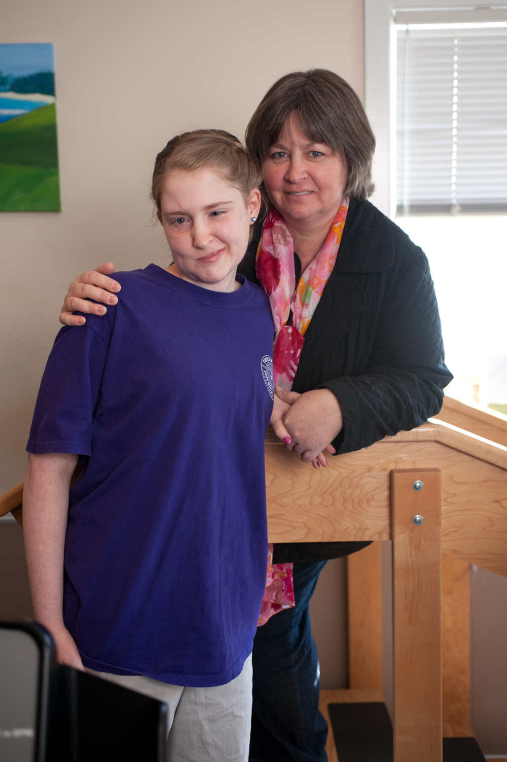 Karissa Yoderand her mother Carla at Tidewater Physical Therapy Harrington.
