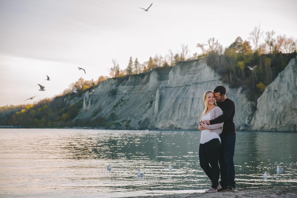 Scarborough Bluffs, Durham wedding photographer
