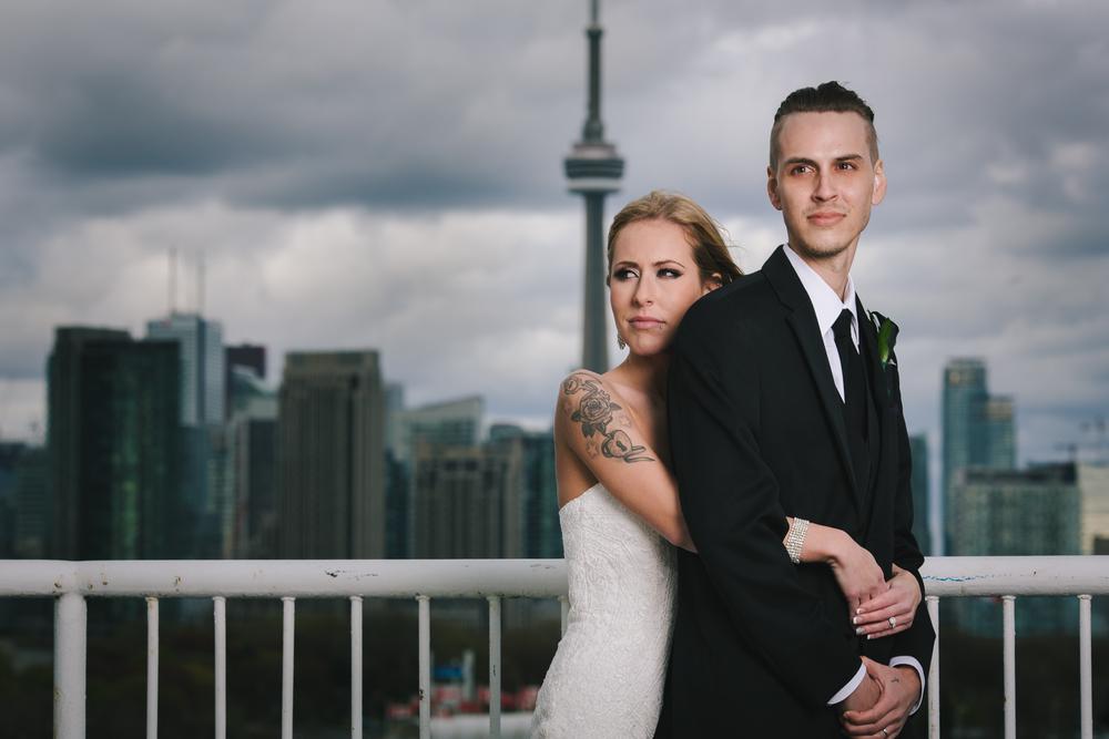 Toronto wedding photographer skyline