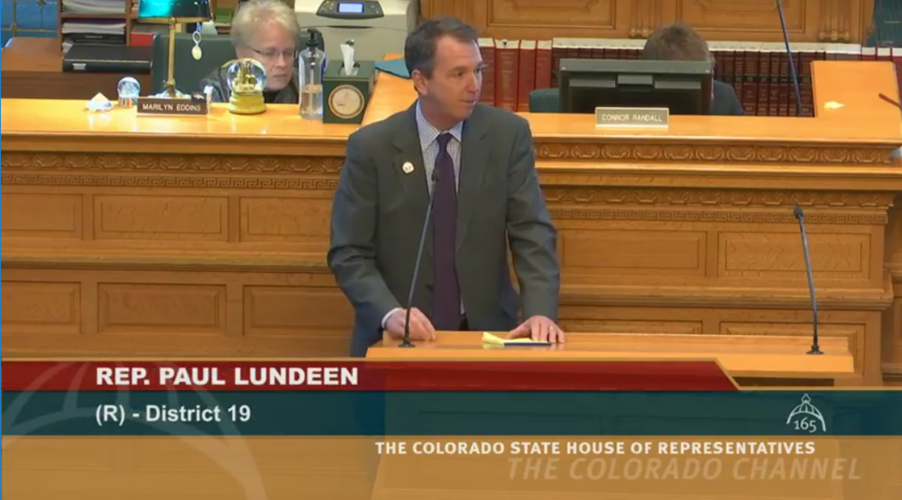 Rep. Lundeen before the House
