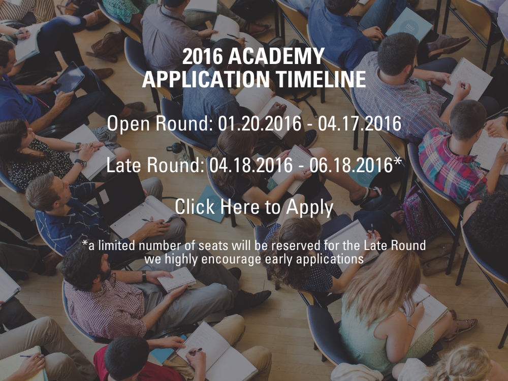 2016 Application Timeline