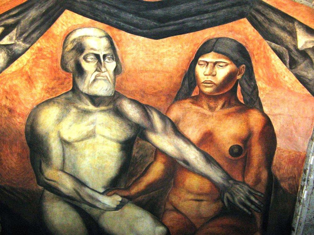 De José Clemente Orozco, Cortés y Malinalli