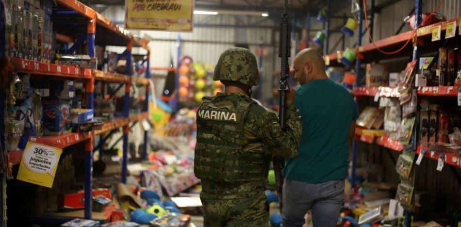 Saqueos a comercios. Diario El País