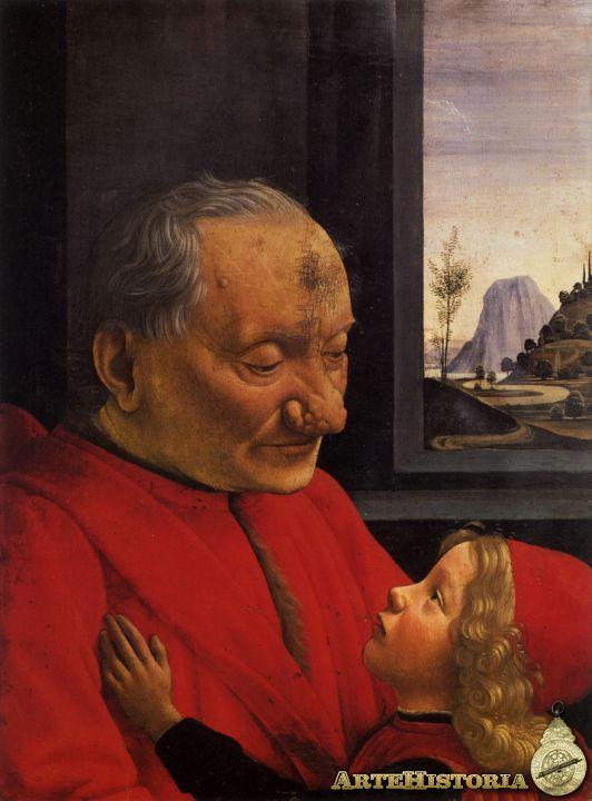 Ghirlandaio. Anciano con su nieto (1480), Museo del Louvre