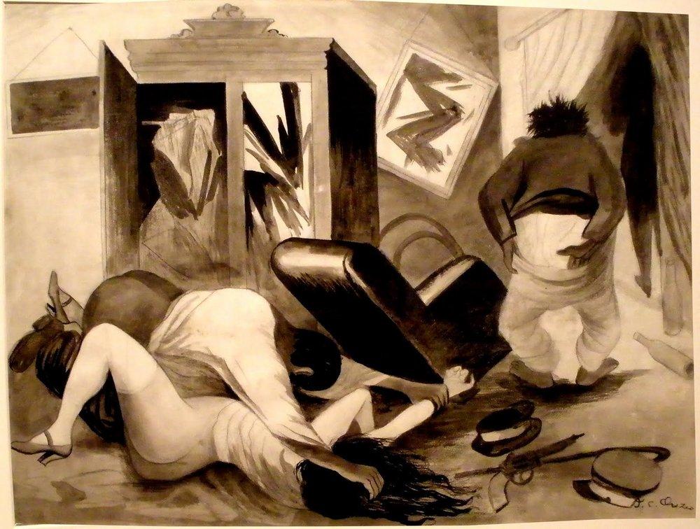 """""""La violación"""", José Clemente Orozco"""