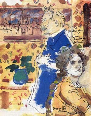 Nietzsche y Lou, por Grau Santos