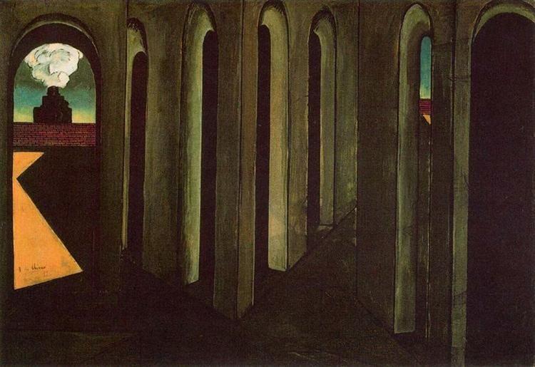 Giorgio de Chirico, Viaje inquietante, 1913. Col. The Museum of Modern Art, N.Y.