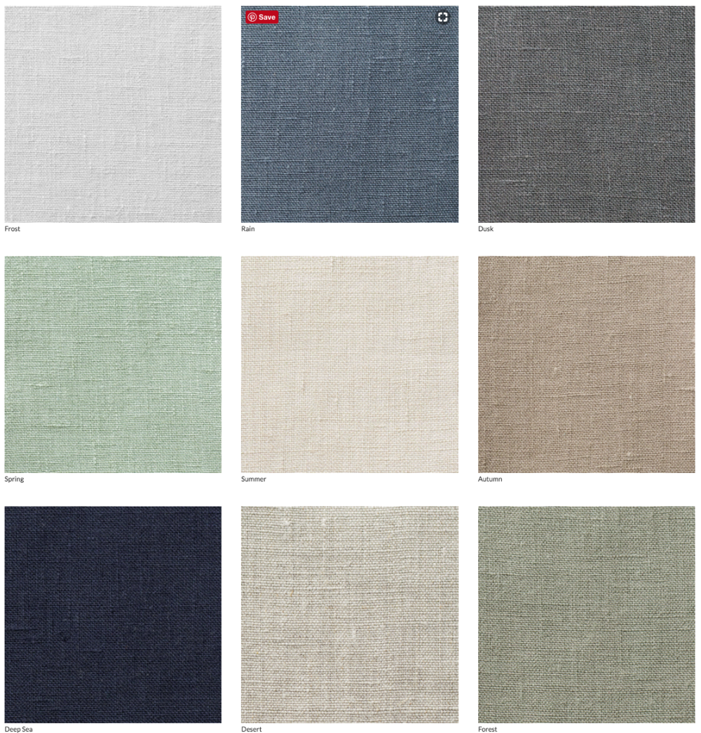 luxe linen cover options