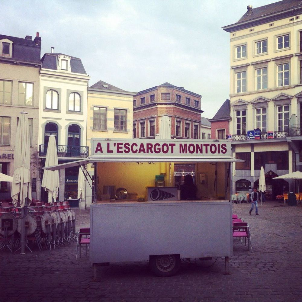 Escargot stand in Mons, Belgium