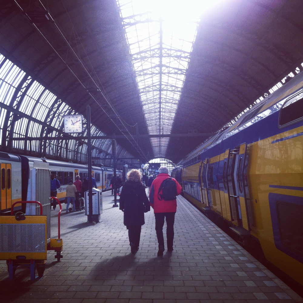 Arriving at Amsterdam Centraal Station