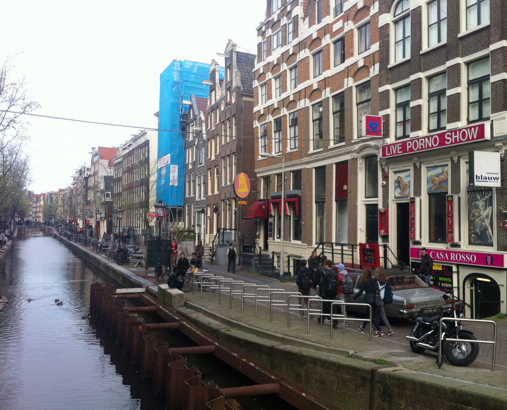 Red Light District in daylight