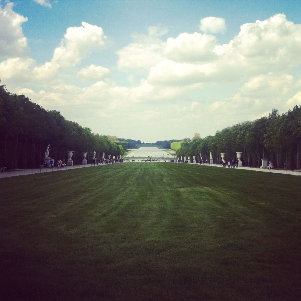 The Grand Canal at the Palace of Versailles.