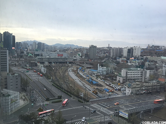View of Seoul Station from my hotel room (©Deborah Clague/Oblada.com)