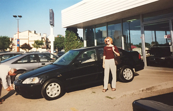 My dad proudly took pictures the day I bought my first car (1999).