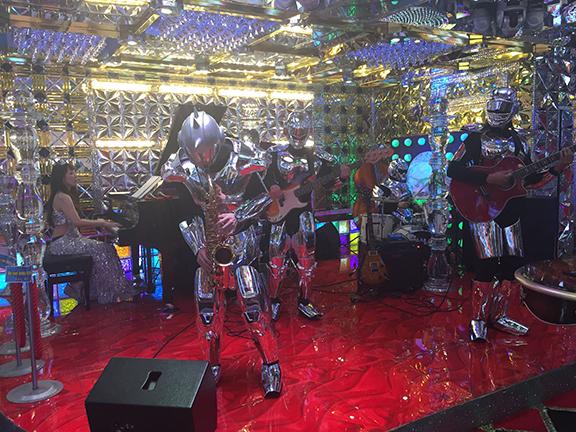 Lounge act at the Robot Restaurant, Tokyo (©Deborah Clague)