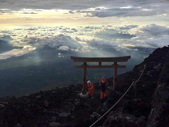 The final Torii Gate before reaching the summit (©Deborah Clague)
