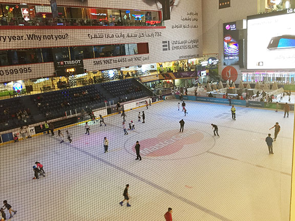 The skating rink inside Dubai Mall (©Deborah Clague, 2016).