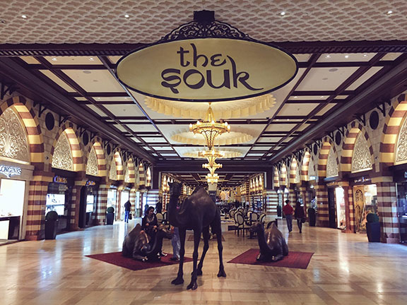 "The ""souk"" portion of Dubai Mall (©Deborah Clague, 2016)."
