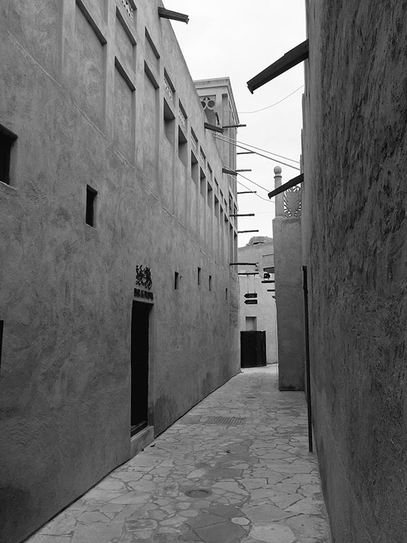 The historic Al-Fahidi district, Dubai (©Deborah Clague, 2016).